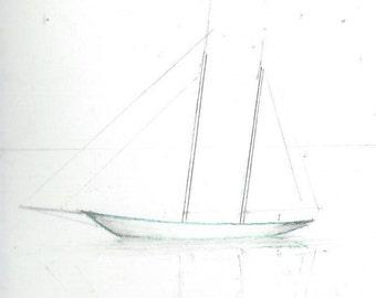 HURRICANES -CIRCA 1800- ------ pen  ink &paint  by J.lamar............