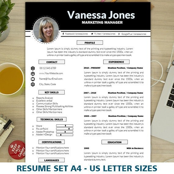 Marketing resume template cv template creative resume marketing resume template cv template creative resume template executive resume cover letter sales resume 1 2 resume instant download yelopaper