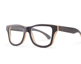 Black Prescription Wooden Glasses, Handmade Wood Reading Glasses, Black Maple Glasses Frame | Unisex Eyewear