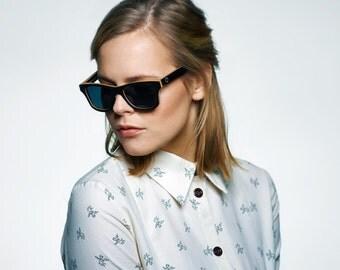 Black Maple Wayfarer Sunglasses, Handcrafted Polarized Wood Sunglasses, Black Wayfarer   Mens & Womens sunglasses
