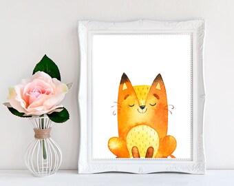 nursery decor animal art nursery fox baby shower decorations fox