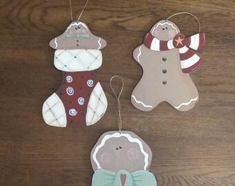 Gingerbread Trio Ornaments