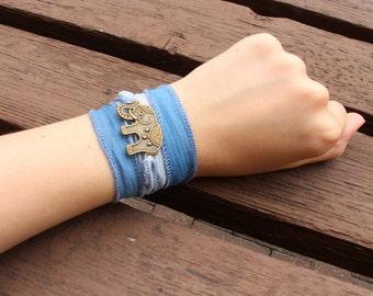 The Trunk & Tusks Collection: Blue Wrap Bracelet