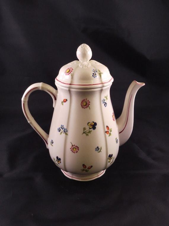 villeroy boch petite fleur porcelain china coffee pot tea. Black Bedroom Furniture Sets. Home Design Ideas