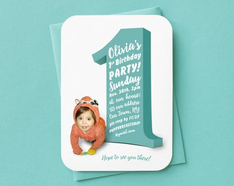 Customized Baby's 1st birthday invitation ( printable 5x7 )