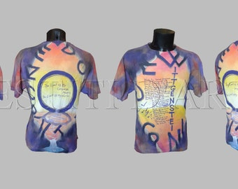 HAND PAINTED T SHIRT for mens tshirts wearable art clothing boho gypsy clothes mens gifts for mens clothing for womens t shirts for womens