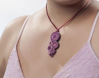 paper necklace handmade original and customizable, artisan jewel