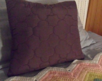 Purple Quilted Pillows