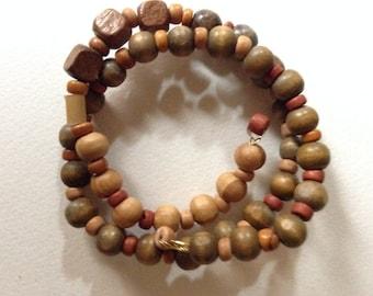 Hand-made Wooden Bead Bracelet