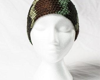 Camouflage Crochet Beanie