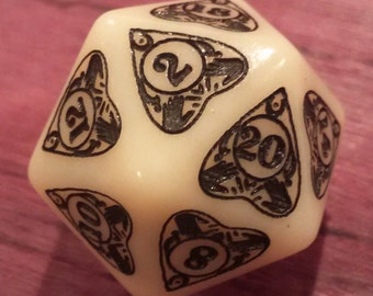 Ouija Planchette: Unique D20 for Roleplaying Games and Magic the Gathering