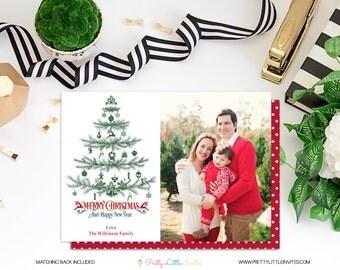 Christmas Card - Printable Photo Card - Christmas - Printable Chrismas Card - Modern Christmas Card - Personalized - Christmas Tree Card