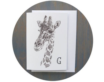 G for Giraffe Greeting Card