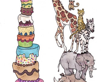 Zoo Happy Birthday Card