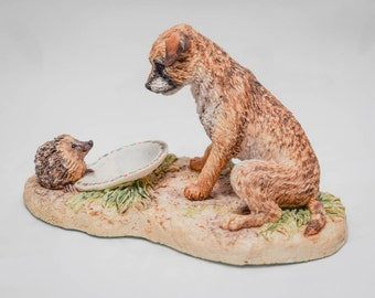 Border Fine Arts Dog and Hedgehog - Hand Made in Scotland