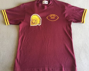 VTG Deer Lake Coach Jersey Shirt Football Indian Chief Vintage