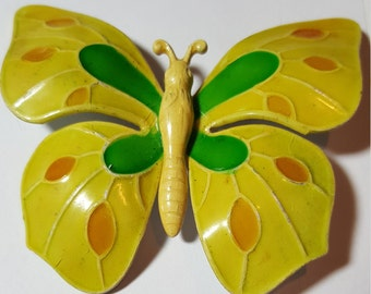 Vintage Large Enamel Butterfly Brooch Pin Made in W GERMANY