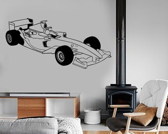 Wall Vinyl Decal Sport Kart Formula 1 Racing Speed Vechicle Amazing Decor 1326de