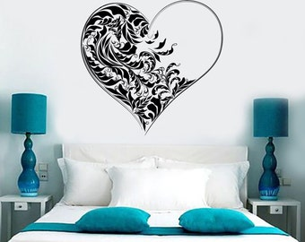 Wall Vinyl Decal Romantic Love Hearts Cool Amazing Decor For Bedroom 1367dz