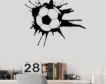 Wall Vinyl Decal Soccer Football Sport Guaranteed Quality Decor 2258di