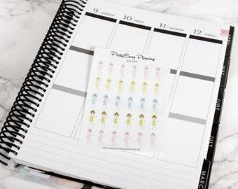 Spa Girl Icon planner stickers - Erin Condren - Filofax - Happy Planner - spa day - girls night - beauty -