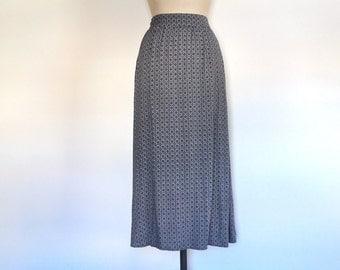 Vintage 90s long summer skirt grunge maxi floral paisley print grey festival hippie boho size S