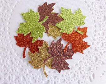 Glitter Autumn Confetti, Maple Leaves, Thanksgiving Decor,Fall in Love Bridal Shower,Autumn Table Decor,Fall Wedding,Fall Leaves
