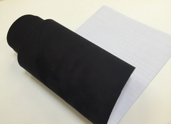 Velvet Suede Black Adhesive Backed Sticker Decal DIY Craft Sign Sheet Roll