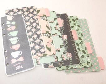 Sweet Shabby Floral Planner Set--Personal (A2) Size