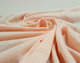 Blush Pink Cotton Blend Jersey