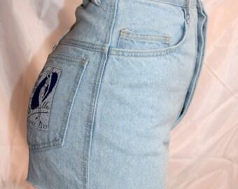 1950s Highwaisted frayed denim shorts