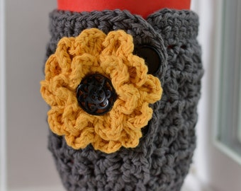 Crochet Coffee Cozy, Cup Cozy, Addison Coffee Cozy, Gift