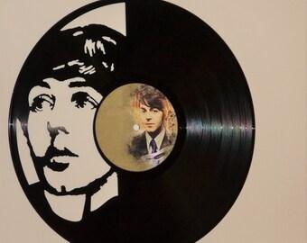 The Beatles Paul McCartney Vinyl Record Wall Art