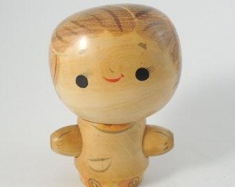 Vintage kokeshi doll RefA