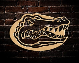Florida Gator Wall Art wooden gator sign | etsy
