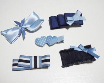 blue hair clips