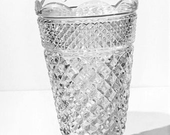 Anchor Hocking Wexford Glass Vase, Wexford Footed Vase