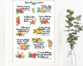 Christian Bible Verses Scriptures Planner Stickers | Flowers (MS-009)