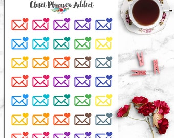 Mail Envelope Icon Planner Stickers (I-012)