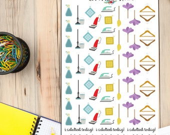 Housework Cleaning Planner Stickers (S-069)