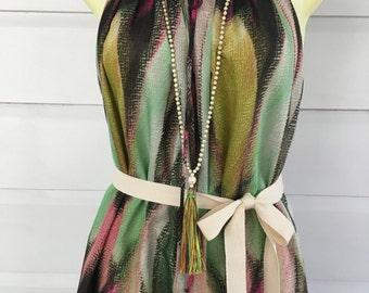 Shoestring halter dress