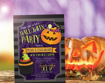 Halloween Party Invitation - Personalized Printable DIGITAL FILE - Halloween Costume Party Invite