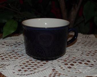 Blue Stoneware Coffee Mug