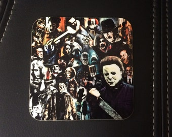 Horror Coaster - Single or Sets - Horror Legends - Freddy Krueger, Michael Myers, Jason Voorhees, Leatherface, Scream, Jaws etc.