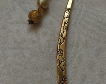 Bookmark - golden pearl