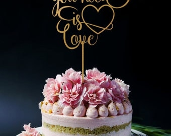 Wedding Cake Topper - All You Need Is Love A2014