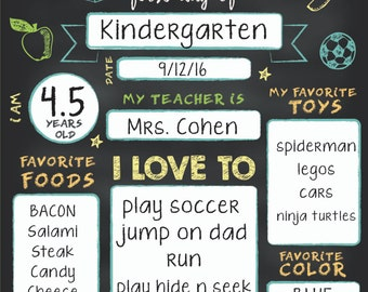 Fill in the blank back to school sign boys, first day of school sign, boys printable back to school prop, back to school printable