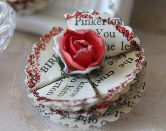 Vintage Storybook Flowers - RED Scrapbooking, cardmaking, altered arts