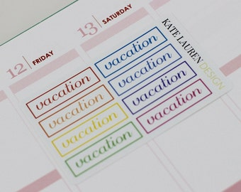 Vacation Planner Stickers for Erin Condren, Day Off Stickers, No School Stickers, No Work Stickers, Lazy Day Stickers