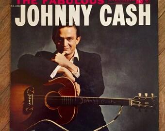 Johnny Cash - The Fabulous Johnny Cash Vinyl Record; Vintage Record
